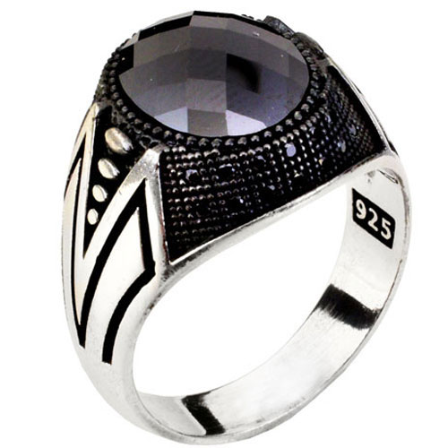 aac8165d44 Ασημένιο ανδρικό δαχτυλίδι 925 με αχάτη