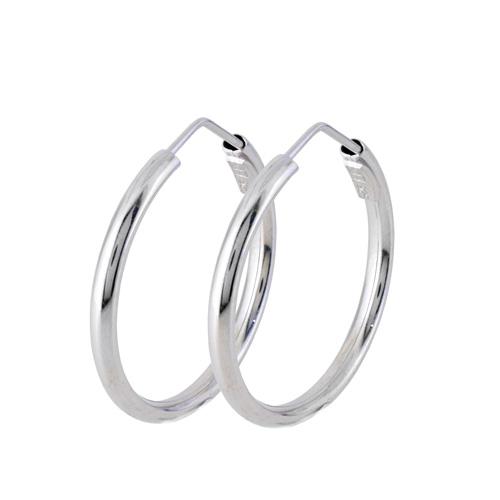 Ασημένια σκουλαρίκια κρίκοι 925