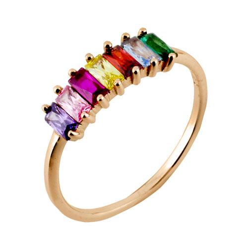 Ασημένιο δαχτυλίδι 925 σε ροζ χρώμα