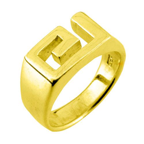 Ασημένιο επιχρυσωμένο δαχτυλίδι μαίανδρος 925