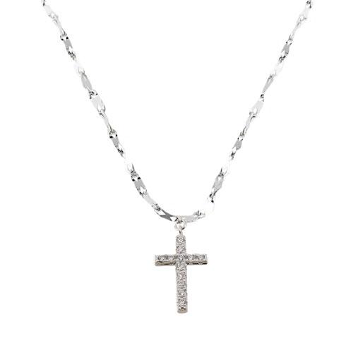 Ασημένιο κολιέ με σταυρό 925