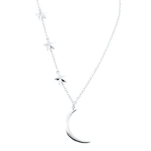 Ασημένιο κολιέ φεγγάρι 925