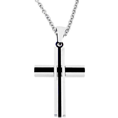 Ατσάλινος ανδρικός σταυρός με αλυσίδα