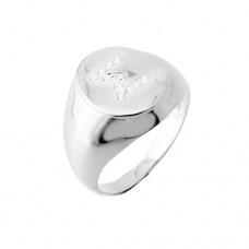 Σεβαλιέ δαχτυλίδι από ροζ χρυσό Κ14 με μονόγραμμα 31c704e9856