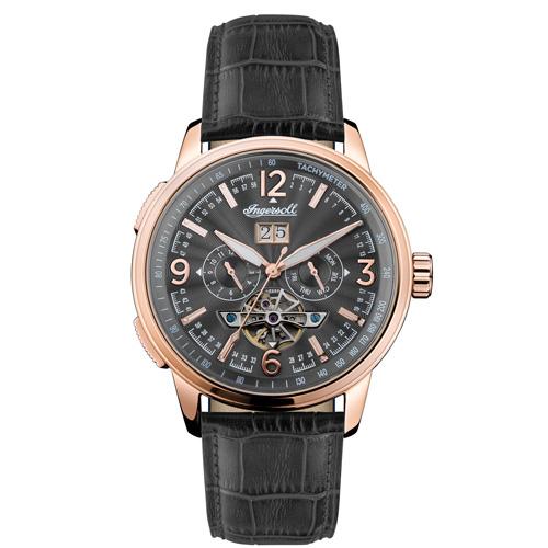 Αυτόματο ρολόι Ingersoll Regent  I00302 πολλαπλών ενδείξεων με γκρί λουράκι