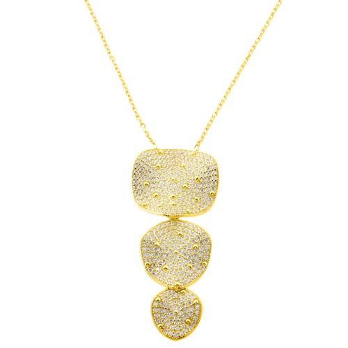 Χρυσό κολιέ Κ14 με ζιργκόν 2ab7d983c40