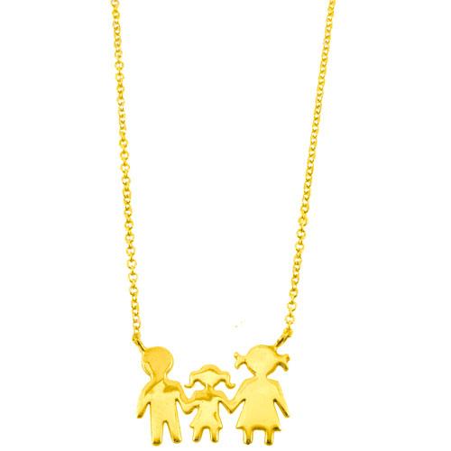 Χρυσό κολιέ οικογένεια Κ14