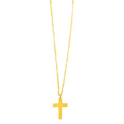 Χρυσό κολιέ με σταυρό Κ14 6486e2324d1