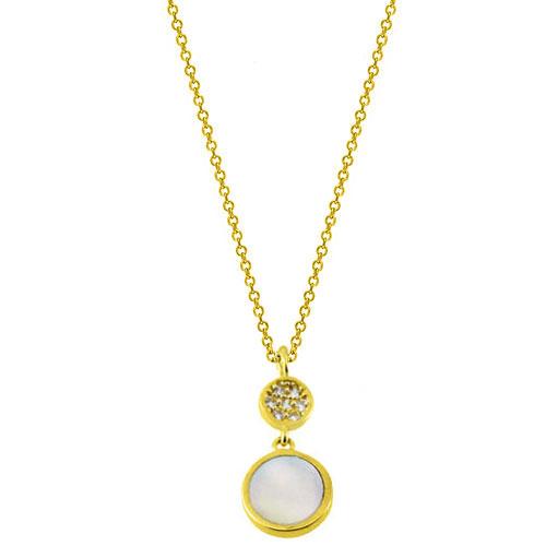 Χρυσό κολιέ κύκλοι Κ14