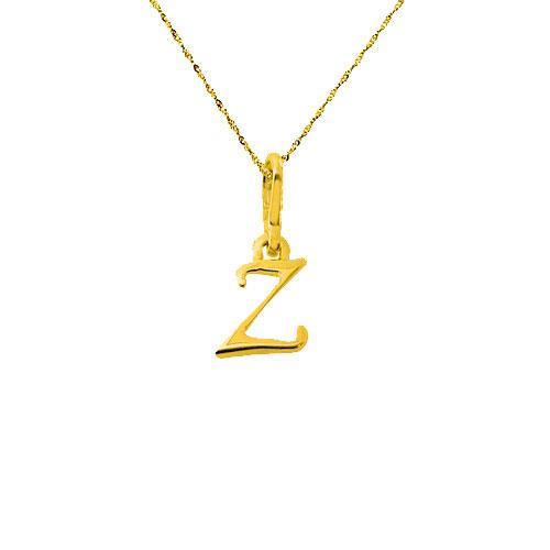Χρυσό μενταγιόν μονόγραμμα Κ14 με αλυσίδα