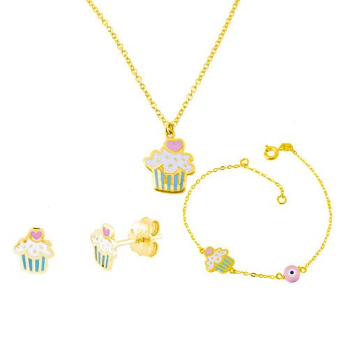 Χρυσό παιδικό mini set Κ14