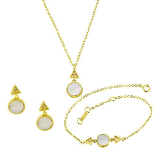 Mini set από κίτρινο χρυσό Κ14