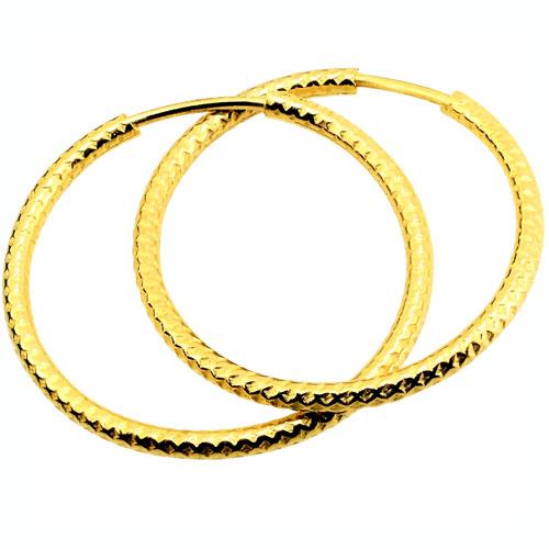 Χρυσά σκουλαρίκια κρίκοι Κ14