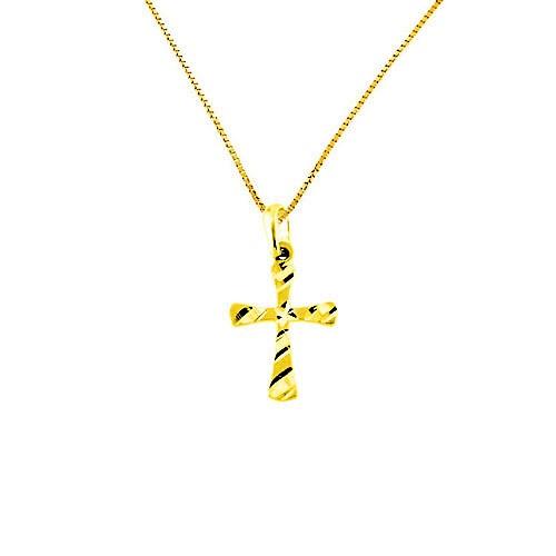 Χρυσός σταυρός Fashion K14 με αλυσίδα