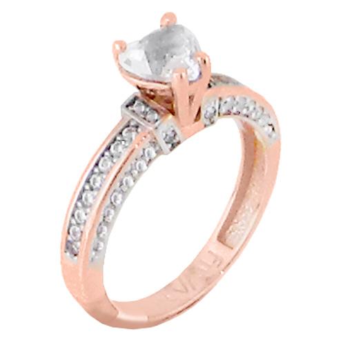 Μονόπετρο δαχτυλίδι από ροζ χρυσό Κ14 με ορυκτή πέτρα SWAROVSKI 993361d405a