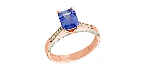 Μονόπετρο δαχτυλίδι από ροζ χρυσό Κ14 με ορυκτή πέτρα SWAROVSKI a52f50129ff