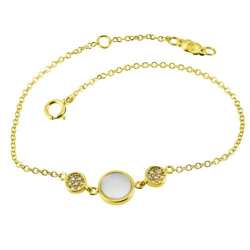 Χρυσό βραχιόλι κύκλοι Κ14