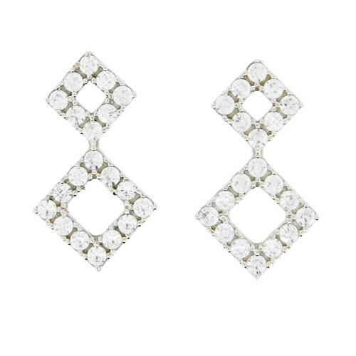Λευκόχρυσα σκουλαρίκια Κ14
