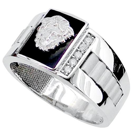 Λευκόχρυσο ανδρικό δαχτυλίδι Κ14
