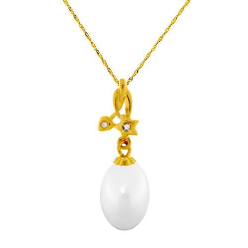 Χρυσό μενταγιόν Κ18 με αλυσίδα