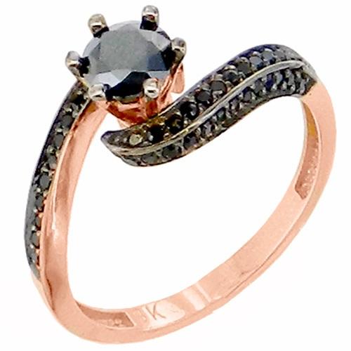 Μονόπετρο δαχτυλίδι από ροζ χρυσό Κ9 με ζιργκόν