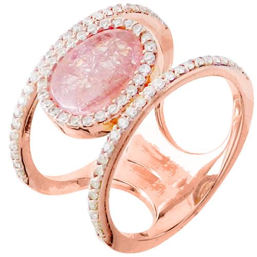 Ασημένιο δαχτυλίδι 925 με συνθετικό χαλαζία και ζιργκόν