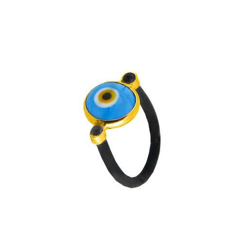 Παιδικό δαχτυλίδι με καουτσούκ και χρυσό Κ14